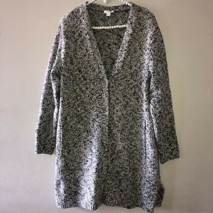 J. Jill Sweater Spacedye Button Cardigan Size M
